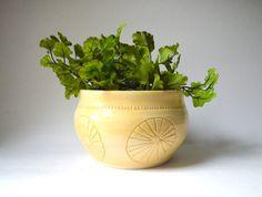 S U N S H I N E : ceramic planter by mbundy on Etsy