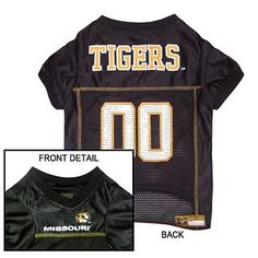 Missouri Tigers Jersey Large  15% Discount - Use code DOGGIE at Checkout   http://www.gingersdoggieheaven.com #MissouriTigers 15% Discount - Use code DOGGIE at Checkout