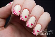 I am showcasing elegant heart nail art designs and ideas of 2014 for Valentine's Day. These nail art designs are too simple and yet so classy to be applied. Really Cute Nails, Love Nails, Fun Nails, Nail Art Designs, Heart Nail Designs, Valentine Nail Art, Holiday Nail Art, Valentine Heart, Pink Ombre Nails