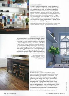The English Home - March 2015. Make a statement with a vibrant patchwork splashback, using lots of different coloured tiles with varying patterns. Our Chateaux collection shows this off to great effect.