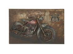 Motorcycle Metal Wall Decor
