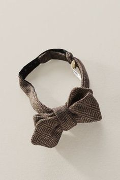 Lands' End Canvas Wool Herringbone Bowtie. $59.50.  A small detail can make a huge statement... Accentuate your button-up, collared shirt.