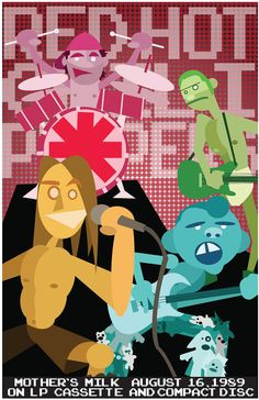 Red Hot Chili Peppers Poster  11x17 poster sized by TheDrewBlank