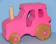 Wooden farm is handcrafted, smooth detailed BLUE glossy finish made with solid poplar wood, non toxic materials, safe and built to last.  This tractor is ready to work with you and promising hours of fun and no break downs.  Great toy for toddlers and preschoolers. Dimentions:  L 4 1/2 x W 2 3/4 x H 3 1/4  To view more toys please visit www.etsy.com/shop/Darlingling