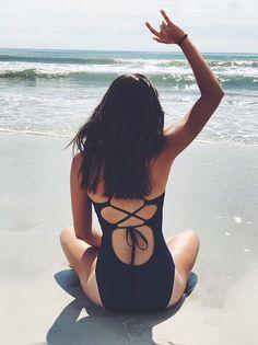 •SUMMER• Ocean air, salty hair #summer#beach#swimwear   @aerie.com