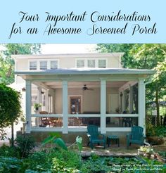 Want to make the most of your screened porch? Our friend Nancy Moore of The Porch Company shares 4 considerations to keep in mind.