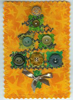 CHRISTMAS TREE FABRIC POSTCARD, via Flickr.