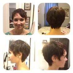 I did a slight modification off the classic square layer haircut. I wanted to keep this sexy and feminine.
