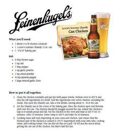 8200666f9c98 Leinie s Summer Shandy Can Chicken Beer Can Chicken