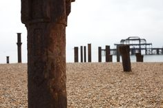 The West Pier Ruins, Brighton Seafront, UK