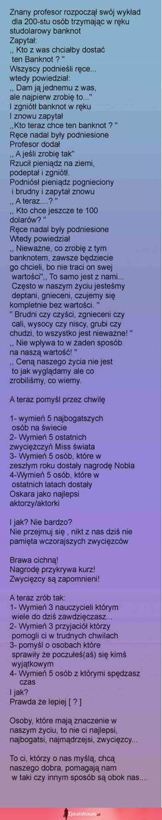 Mega wykład! Naprawdę warto przeczytać! Strong Quotes, Sad Quotes, Words Quotes, Life Quotes, Inspirational Quotes, Me As A Girlfriend, Motto, Beautiful Words, True Stories