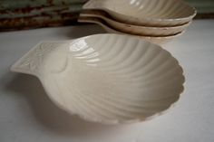 Vintage Ironstone Dish Shell Plate Antique by ironstonevintage, $23.00