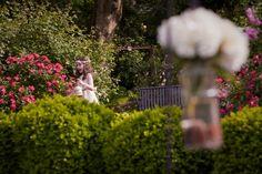 Chic, Green  White Garden Wedding in Full Bloom | Brideage