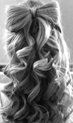 bow-tied hair | Hairstyles and Beauty Tips Repinned by Aline