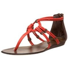 Dolce Vita Women's Ivory Sandal,Red,10 M US (Apparel)