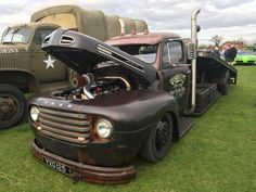 Custom Ford F1 car hauler with a custom flatbed out back - pic 1