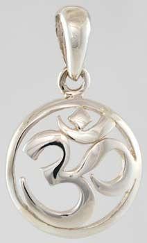 Beautiful Sterling silver Om pendant available from EarthSpirit Metaphysical. #earthspiritmeta