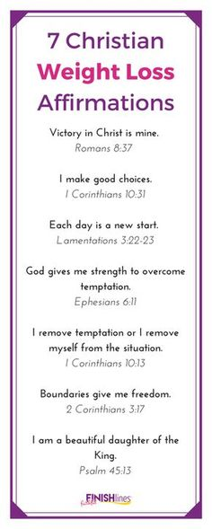 7 Christian Weight Loss Affirmations The Holy Mess