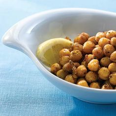 Spicy Roasted Chickpeas - the perfect snack!  Clean Eating http://www.cleaneatingmag.com/Recipes/Recipe/Spicy-Roasted-Chickpeas.aspx