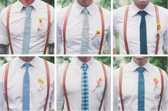 I like this idea of not perfectly matching ties... it would coordinate with my non-matching bridesmate dresses.