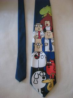 Vintage Dilbert Tie by VintageByThePound on Etsy