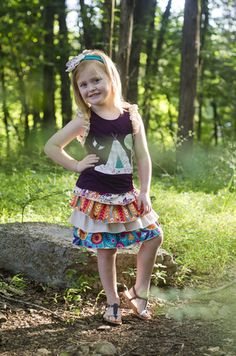 Sado Indian Summer Ruffle Skirt, FREE SHIPPING on orders over $50!! www.SadoBoutique.com Children's Boutique Clothing, Vintage Inspiration, infant, toddler, girl, and tween sizes. If you like Persnickety or Mustard Pie you will love this brand!