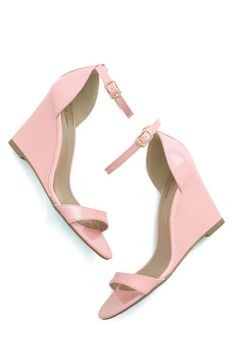 One Suite Day Wedge in Bubblegum. A jetsetter like you needs travel-ready styles, such as this versatile pastel pink wedge! #pink #weddingNaN