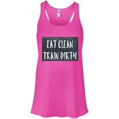 Eat Clean  Bella +Canvas Flowy Racerback Tank  Shop now Jmesteesboutique.com Affordable athleisure wear for all