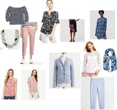 Blues and blush for spring! #springfashion, #springoutfit,