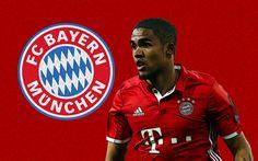 Lataa kuva Douglas Costa, Bayern München, tunnus, Saksa, Bundesliiga, Brasilialainen jalkapalloilija