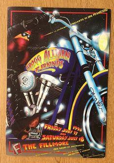 Original AUTOGRAPHED concert poster for Gregg Allman