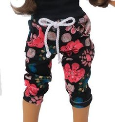 Amazon.com: Floral Print Joggers for 18 Inch Dolls: Toys & Games