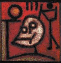 Paul Klee,La mort et le feu 1940 Oeuvre de fin de carrière = gde volonté de RETOMBER EN ENFANCE