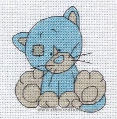 Tatty Teddy My Blue Nose Friends Kittywink Cross Stitch Kit