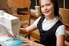 """Teaching a child to sew on a machine.....more like """"how to teach mom before teaching the kid"""""""