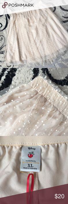 Lauren Conrad Snow White Collection Tulle Skirt NWT Elastic waist. Mesh overlay. LC Lauren Conrad Skirts A-Line or Full