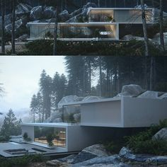 "17.2k Likes, 39 Comments - Amazing Architecture (@amazing.architecture) on Instagram: ""The house in the pinewood by Roman Kupriyan #usa #Archviz #3Drendering…"""
