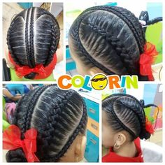 Lo que hacemos constantemente en #colorin #braids #braidstyles #hairstayle #hair #peinados #peinadoscontrenzas #trecce #warkocze #tocang #koca Natural Hairstyles For Kids, Kids Braided Hairstyles, Cool Hairstyles, Natural Hair Styles, Long Hair Styles, Braids For Kids, Girls Braids, Braid Styles For Girls, Baby Girl Hairstyles