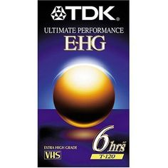 TDK 9 Pack Extra High Grade T-120 Video Tapes by TDK. $30.99. This 9-pack of VHS tapes is perfect for recording any occasion. From taping digital sources to recording old movies, you're covered. They're ideal for any and all types of day-to-day recording.