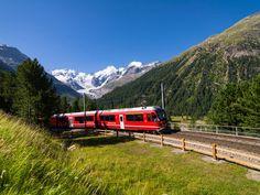 Montebellokurve, Bernina Pass, Oberengadin, Graubünden, Schweiz