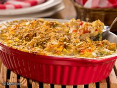 Creamy Crunchy Chicken Casserole | EverydayDiabeticRecipes.com , I will omit bell pepper. Add peas and carrots for a one dish meal.