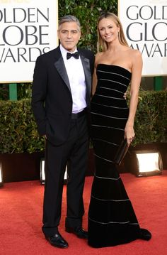 George Clooney and Stacey Kiebler - The 2013 Golden Globes