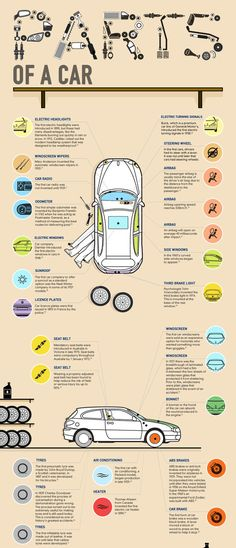 Vehicle anatomy. | XX Essential Cheat Sheets For Everyone Who Drives A Car