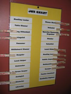 Classroom job chart ideas from Virtually Montessori