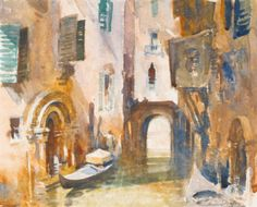Edward Brian Seago, R.W.S.  1910-1974  A SIDE CANAL, VENICE  Estimate: 3,000 - 5,000 GBP  signed l.r.: Edward Seago  watercolour  26 by 31cm., 10 by 12in.
