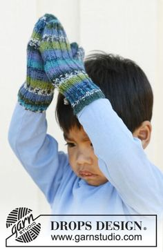 "Jules - Knitted DROPS mittens in rib in ""Fabel"". Size 3 to 12 years. - Free pattern by DROPS Design Knitting Patterns Free, Free Knitting, Baby Knitting, Crochet Patterns, Free Pattern, Fingerless Mittens, Knit Mittens, Knitted Gloves, Knitting Books"