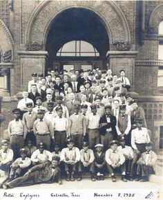 Postal employees in Galveston, 1935 (courtesy of Galveston Historical Society)