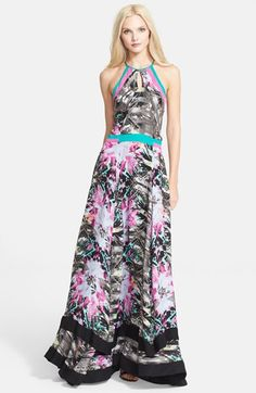 vibrant floral printed maxi dress from @nordstrom #spring #floral