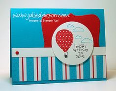 Julie's Stamping Spot -- Stampin' Up! Project Ideas Posted Daily: Up, Up, & Away Top Note Card