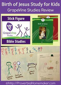 Birth of Jesus Study for Kids - GrapeVine Studies review. | ProverbialHomemaker.com